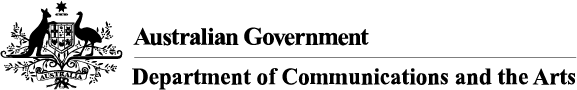 Department of Communications and the Arts Logo
